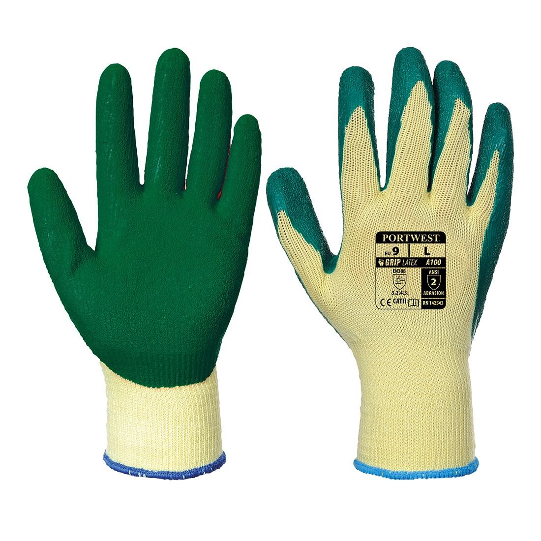 Latex-pinnoitetut sormikkaat