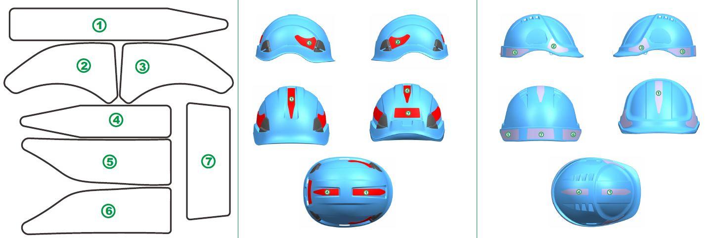 Heijastintarrat kypärään