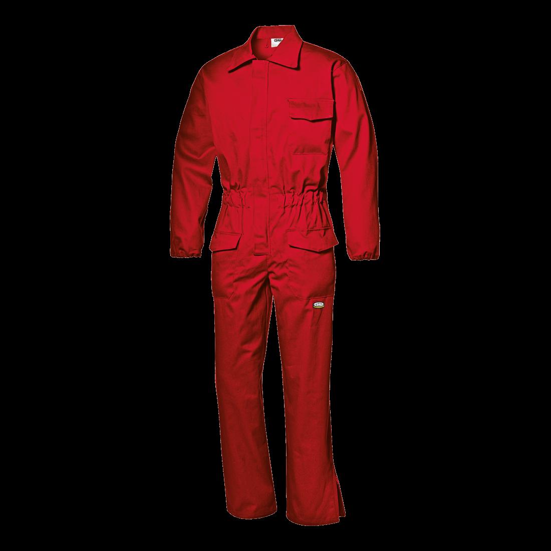Palosuojatut puuvillahaalarit, Punainen (ei varastoväri)