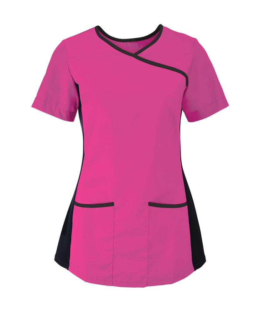 Naisten joustava tunika, pink/musta