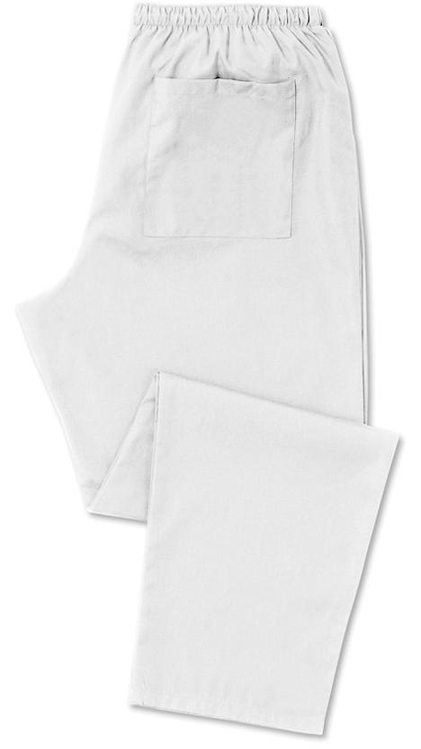 Kevyt hoitajan housu Valkoinen