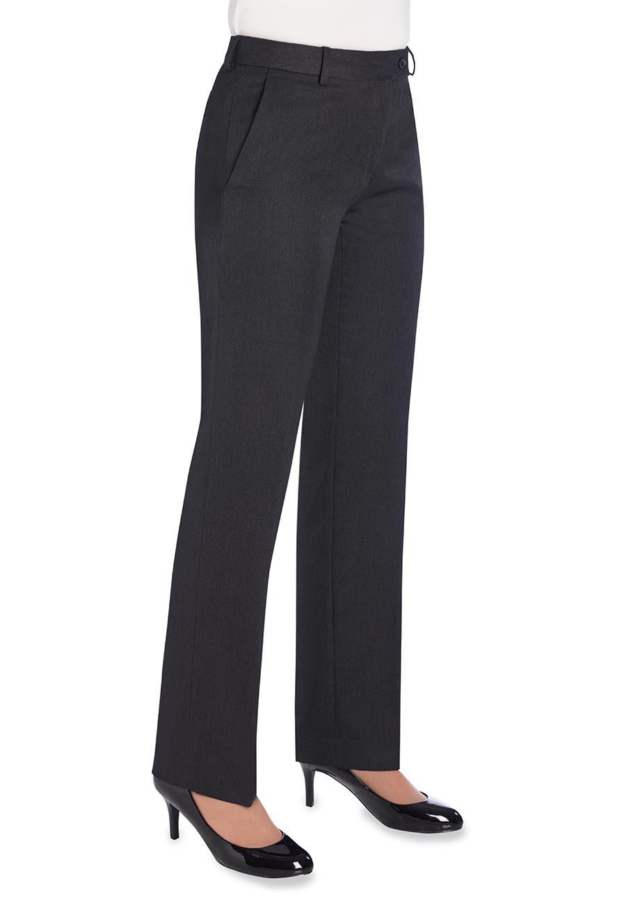 Naisten suorat Aura-housut, hiilenharmaa
