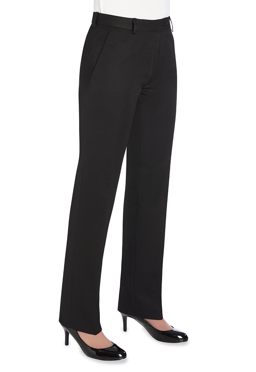 Naisten suorat Aura-housut, musta