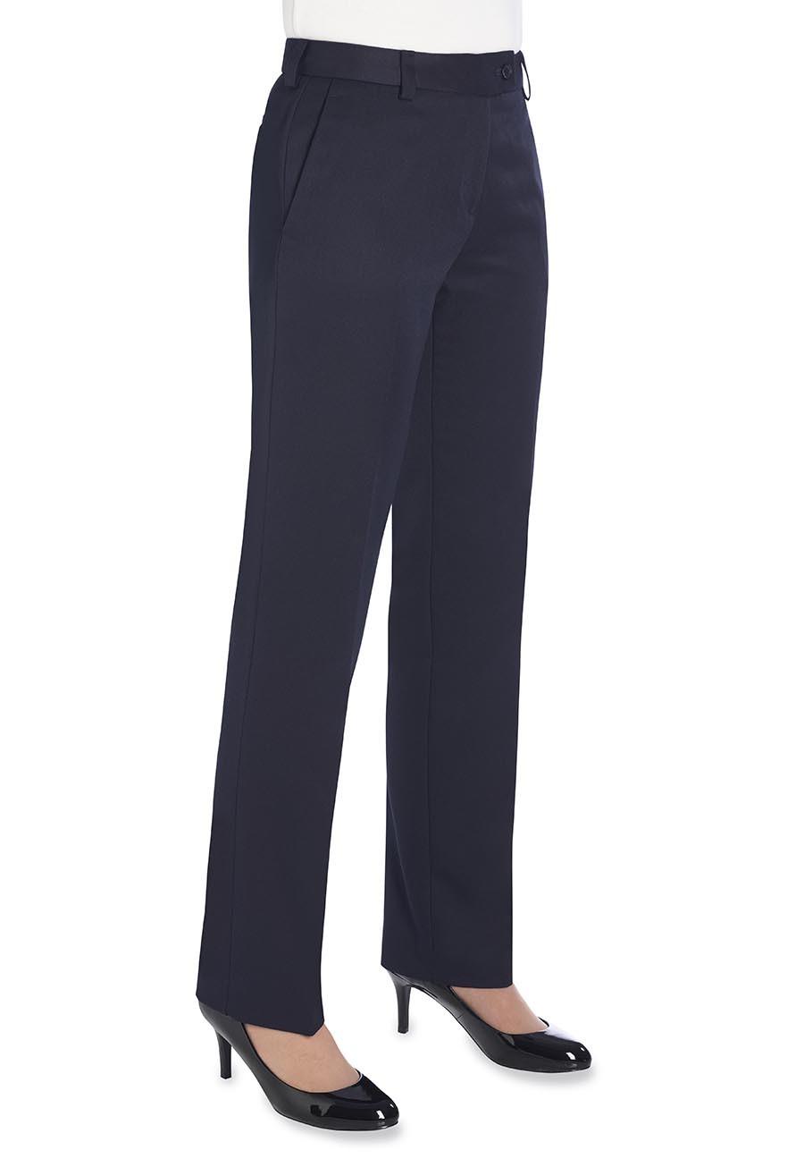 Naisten suorat Aura-housut, Navy