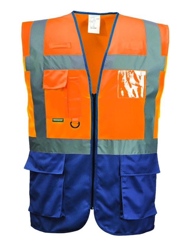 Huomioväriliivi C476 oranssi-navy