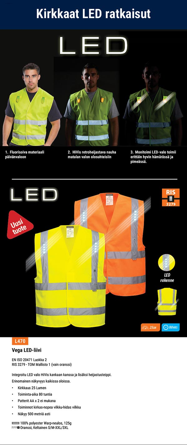 LED liivi portwest