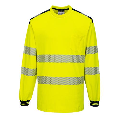 PW3 Hi-Vis Pitkähihainen t-paita Kelta/Musta