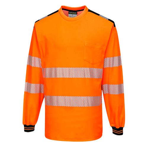 PW3 Hi-Vis Pitkähihainen t-paita Oranssi/Musta