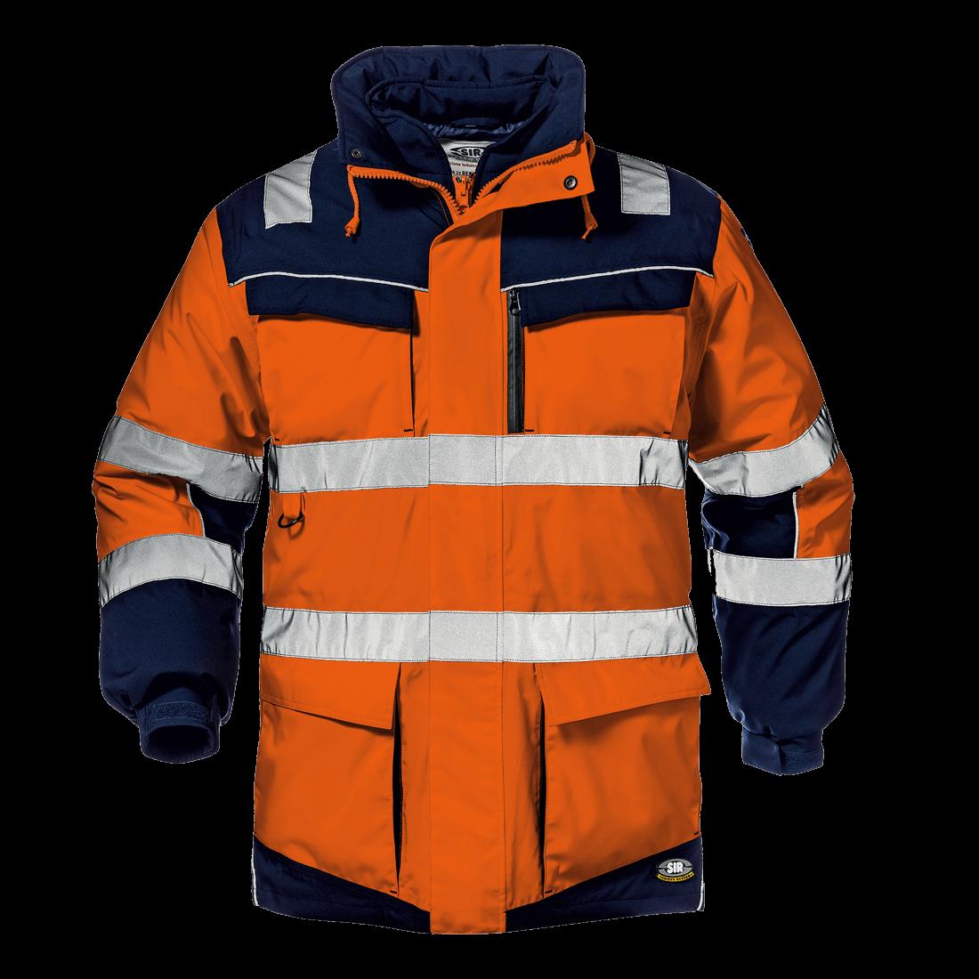 Regimental Split Jacket orange/blue