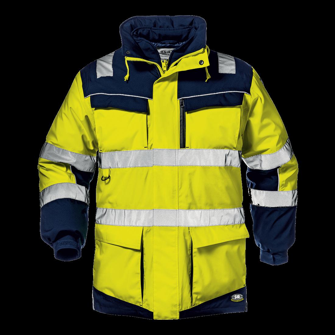 Regimental Split Jacket yellow/blue
