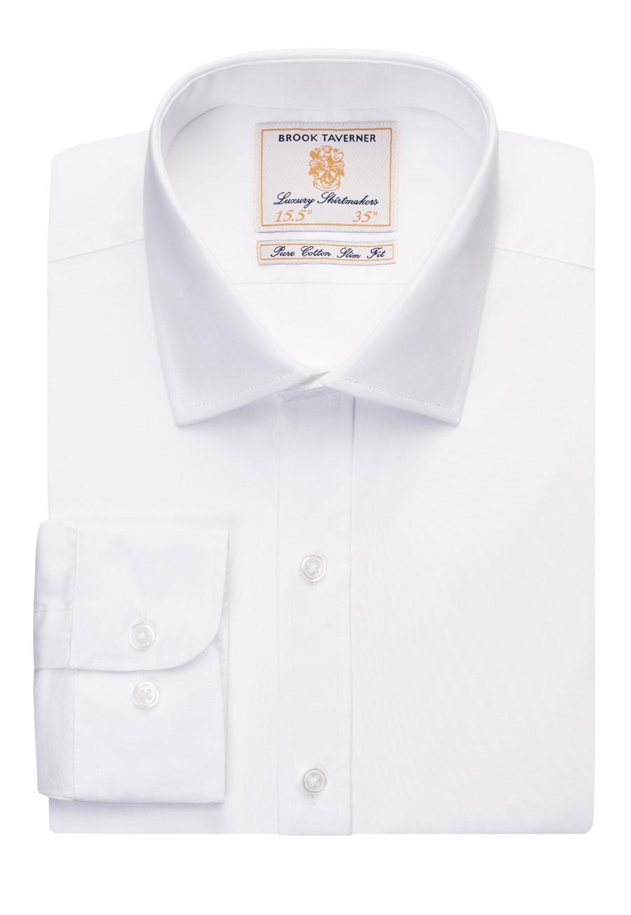 Slim fit -paita Chelsea, valkoinen