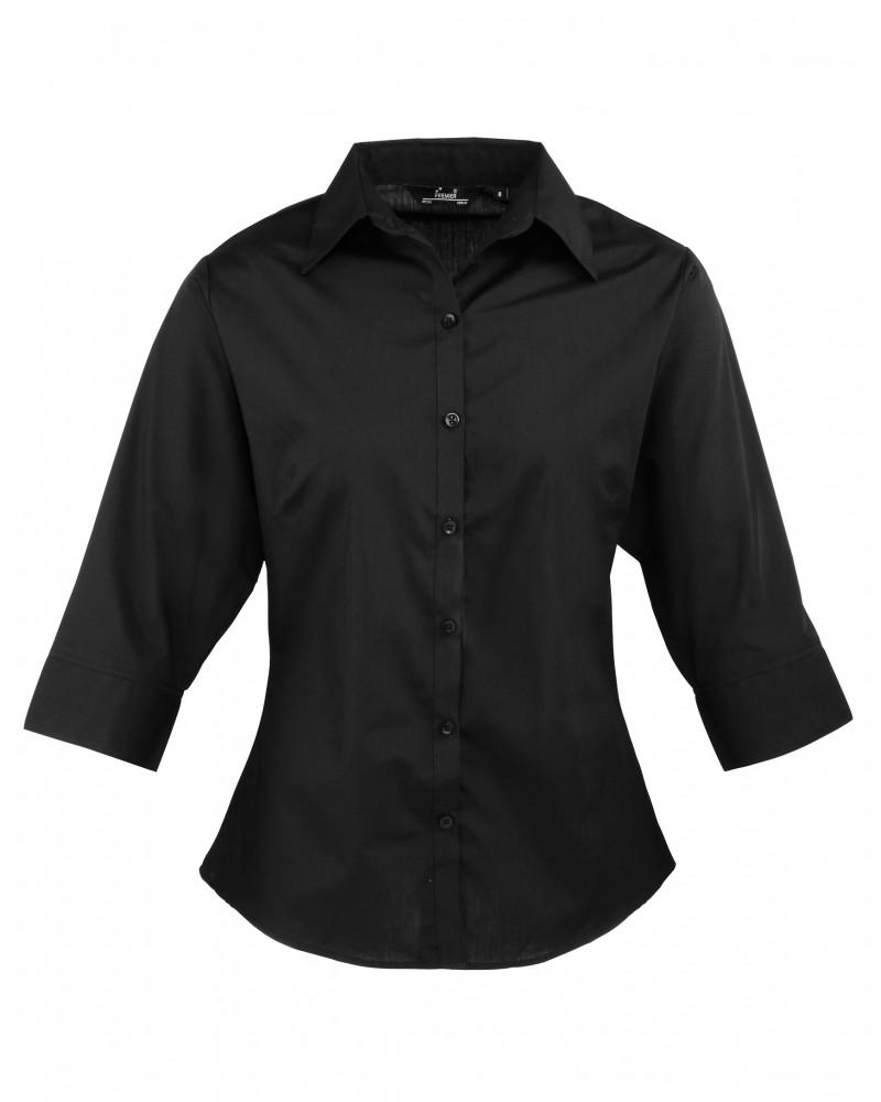 Naisten 3/4-hiha paita  Musta