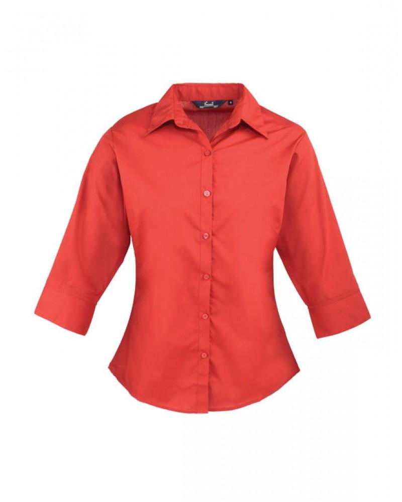 Naisten 3/4-hiha paita Punainen