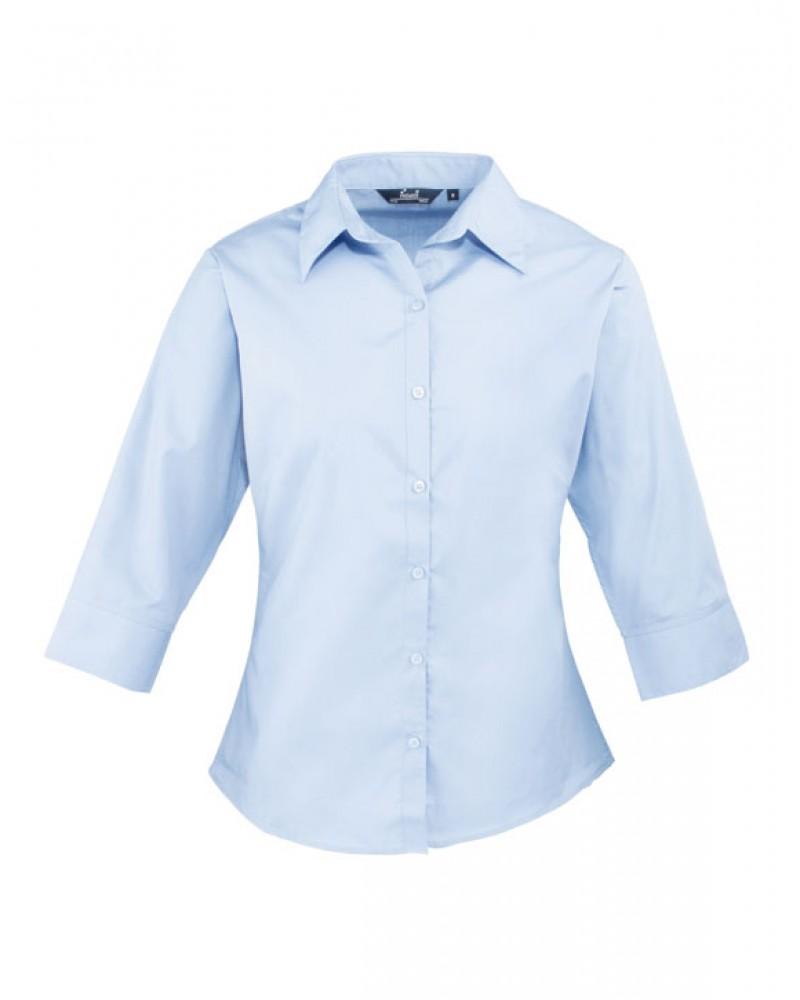 Naisten 3/4-hiha paita Vaaleansininen