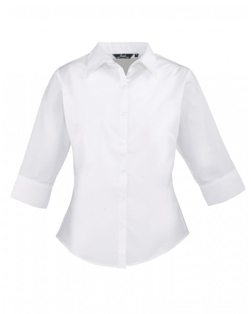 Naisten 3/4-hiha paita Valkoinen