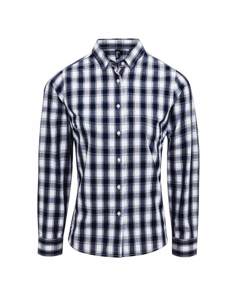 Mulligan-paita navy-valko