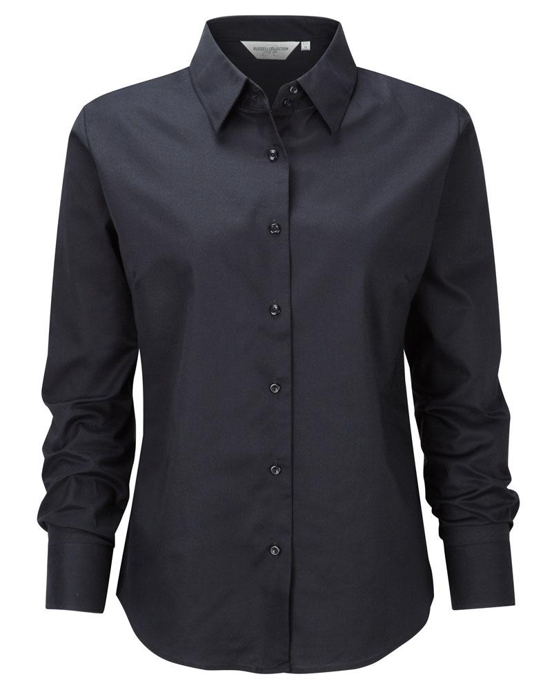 Naisten Oxford-paita musta