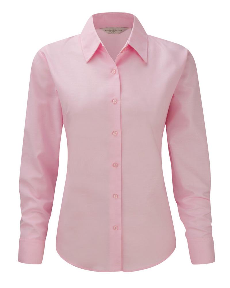 Naisten Oxford-paita Klassinen pinkki