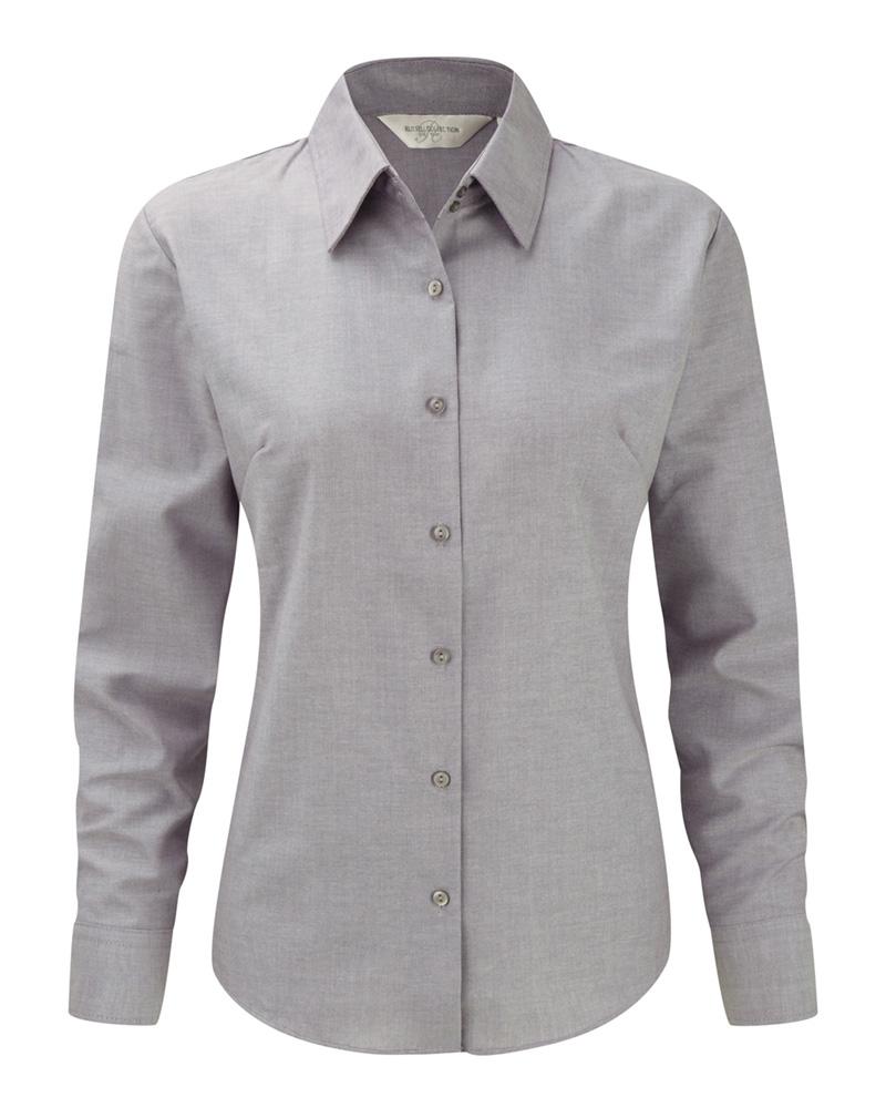 Naisten Oxford-paita silver