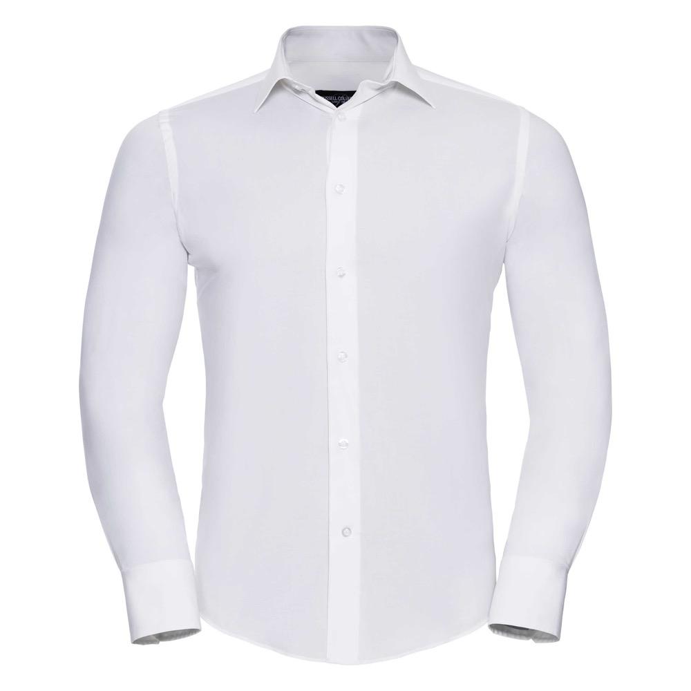Istuva Stretch-paita, valkoinen