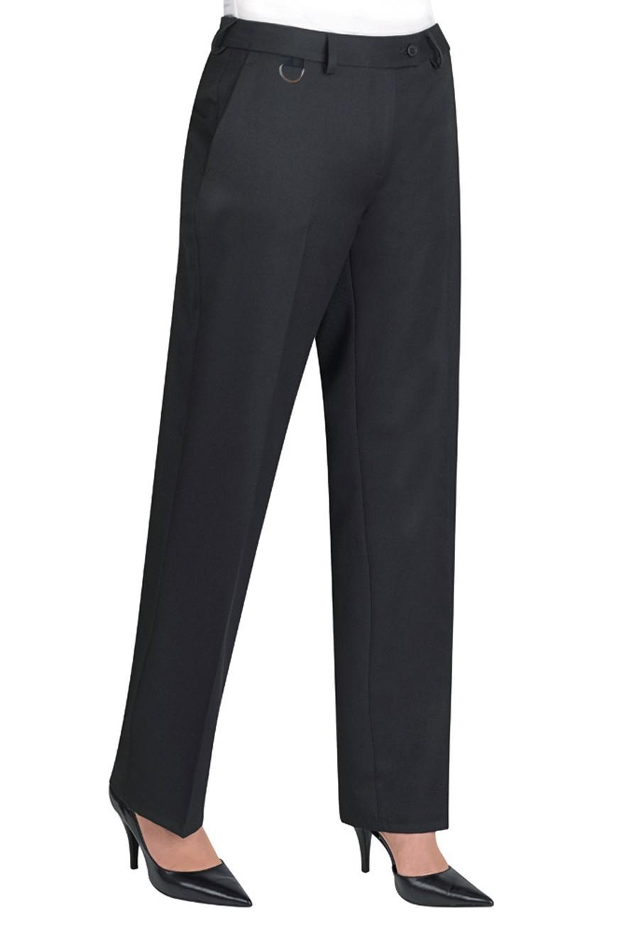 Naisten suorat housut, musta