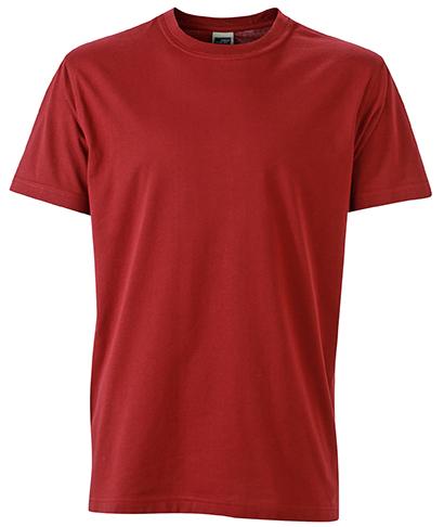 Miesten T-paita JN838 Viininpunainen