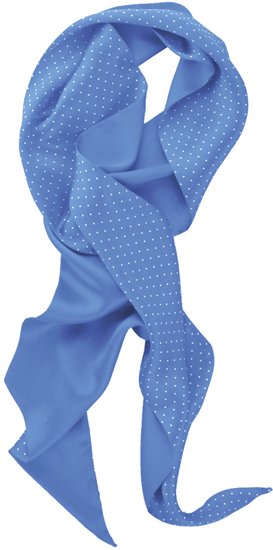 Silkkihuivi Dot sininen