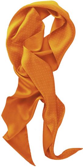 Silkkihuivi Dot Oranssi