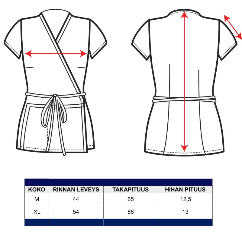 Kietaisutunika Tongan mitat