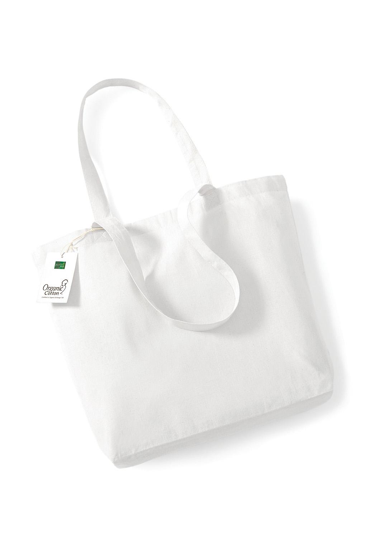 Orgaaninen Puuvillakassi W180 Valkoinen