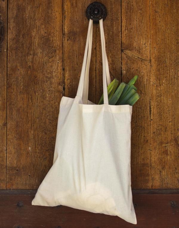 Orgaaninen puuvillakassi Popular pitkät hihnat
