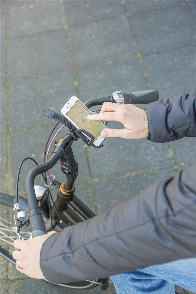 Puhelinpidike pyörän ohjaustankoon