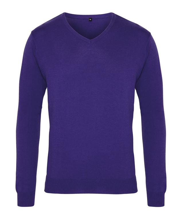 V-aukkoinen neule purple