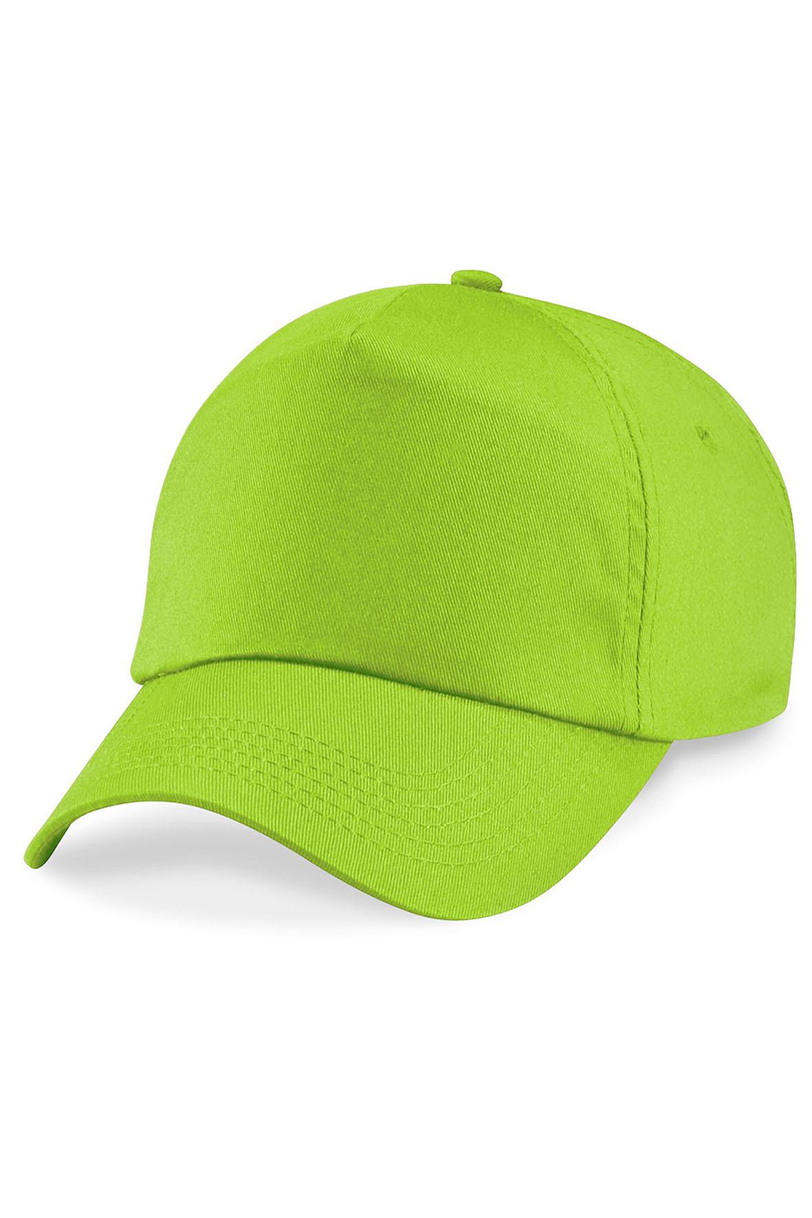 Twill 5-Paneelilippis Lime