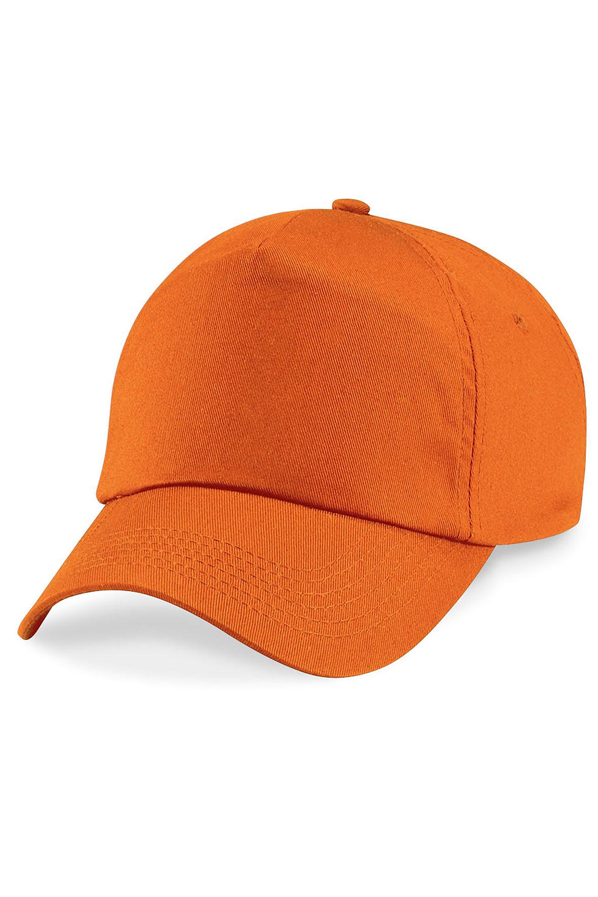 Twill 5-Paneelilippis Oranssi