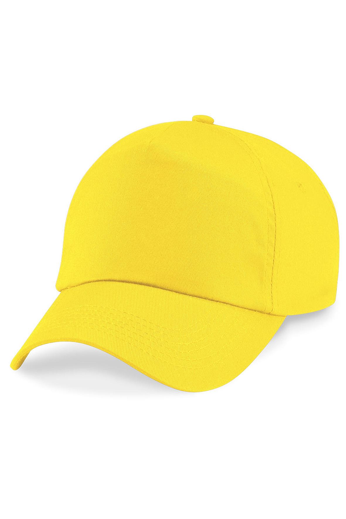Twill 5-Paneelilippis Yellow