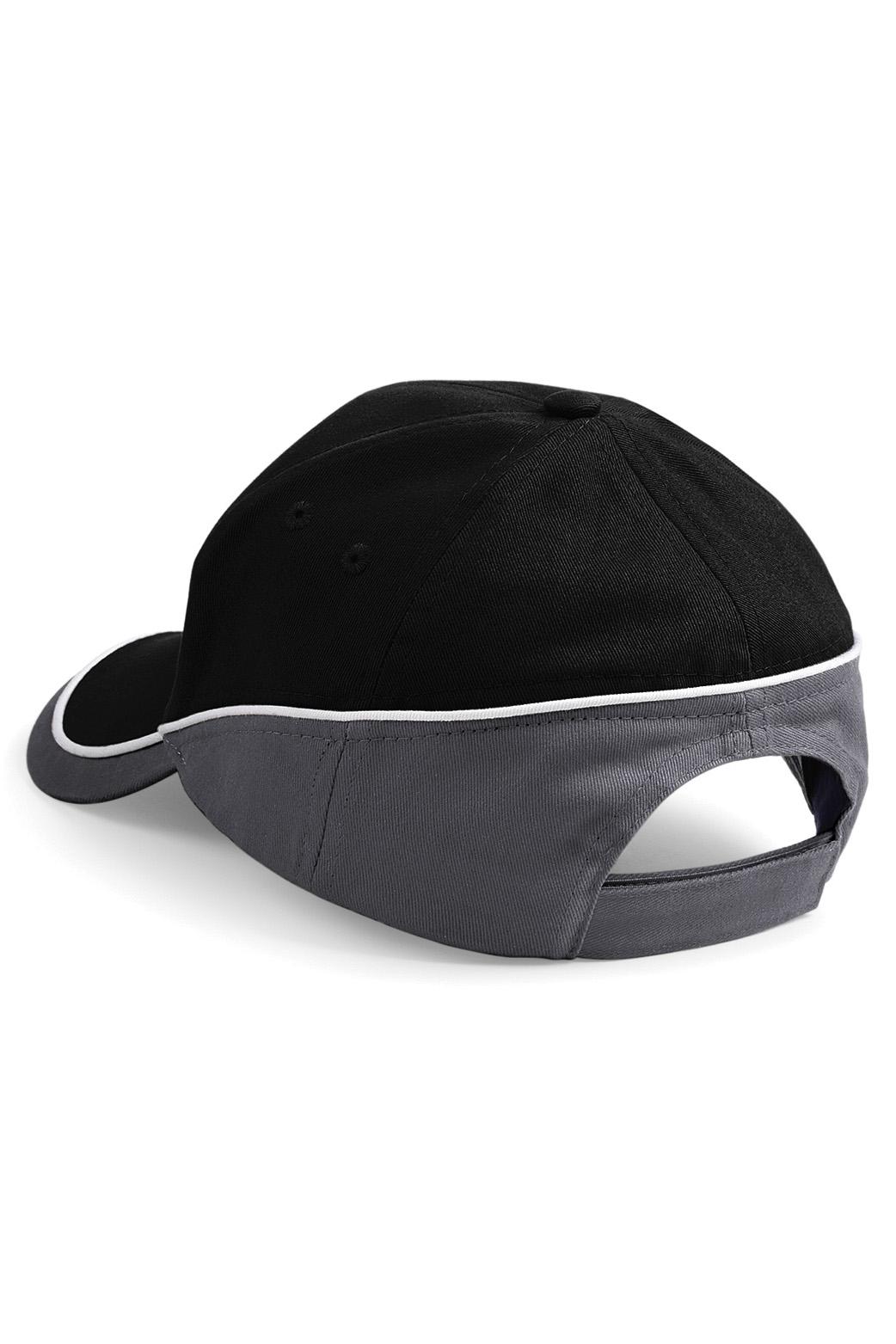 Teamwear Lippis Musta - Grafiitti - Valkoinen Takaa