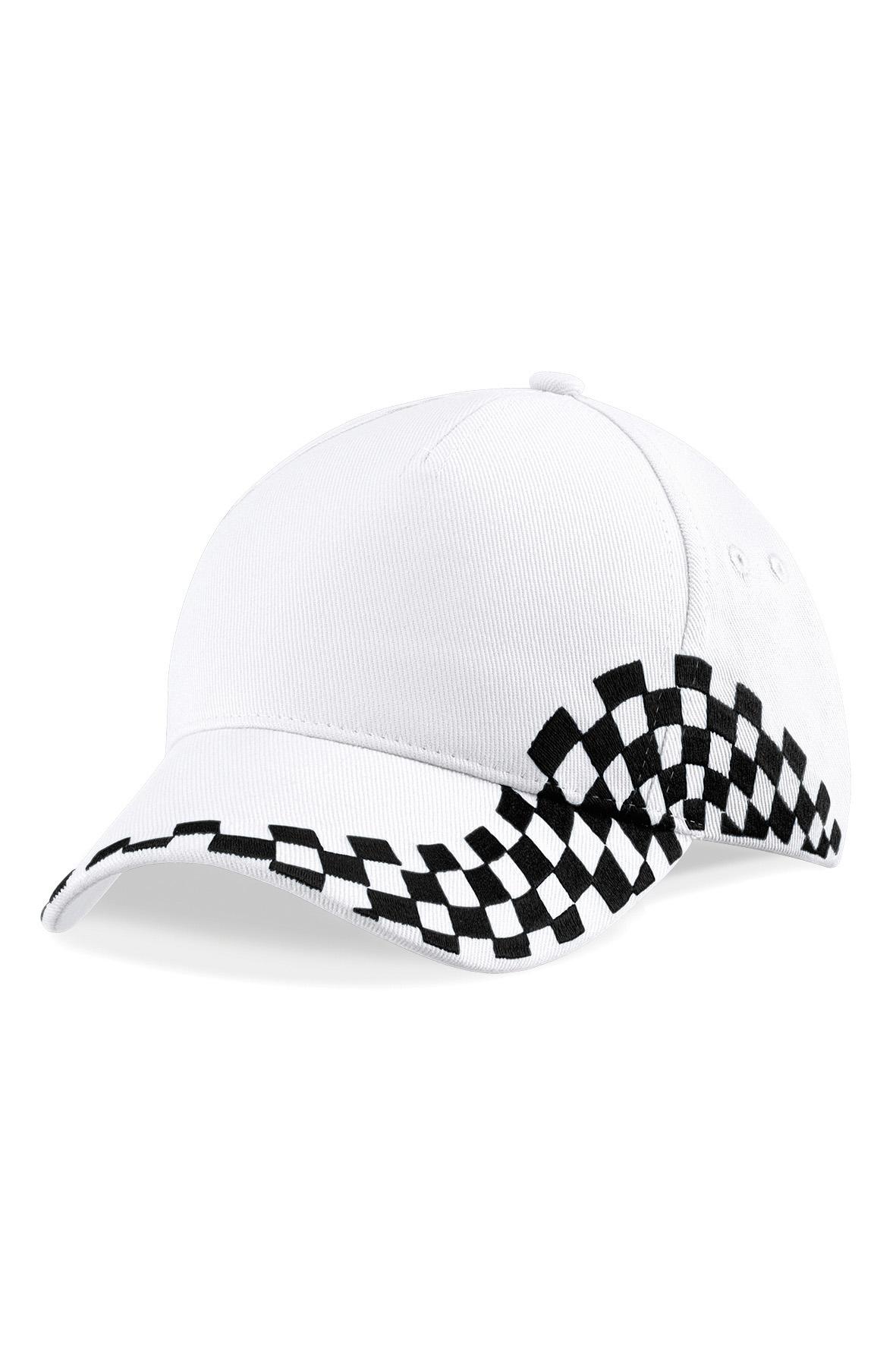 Grand Prix Puuvillalippis Valkoinen