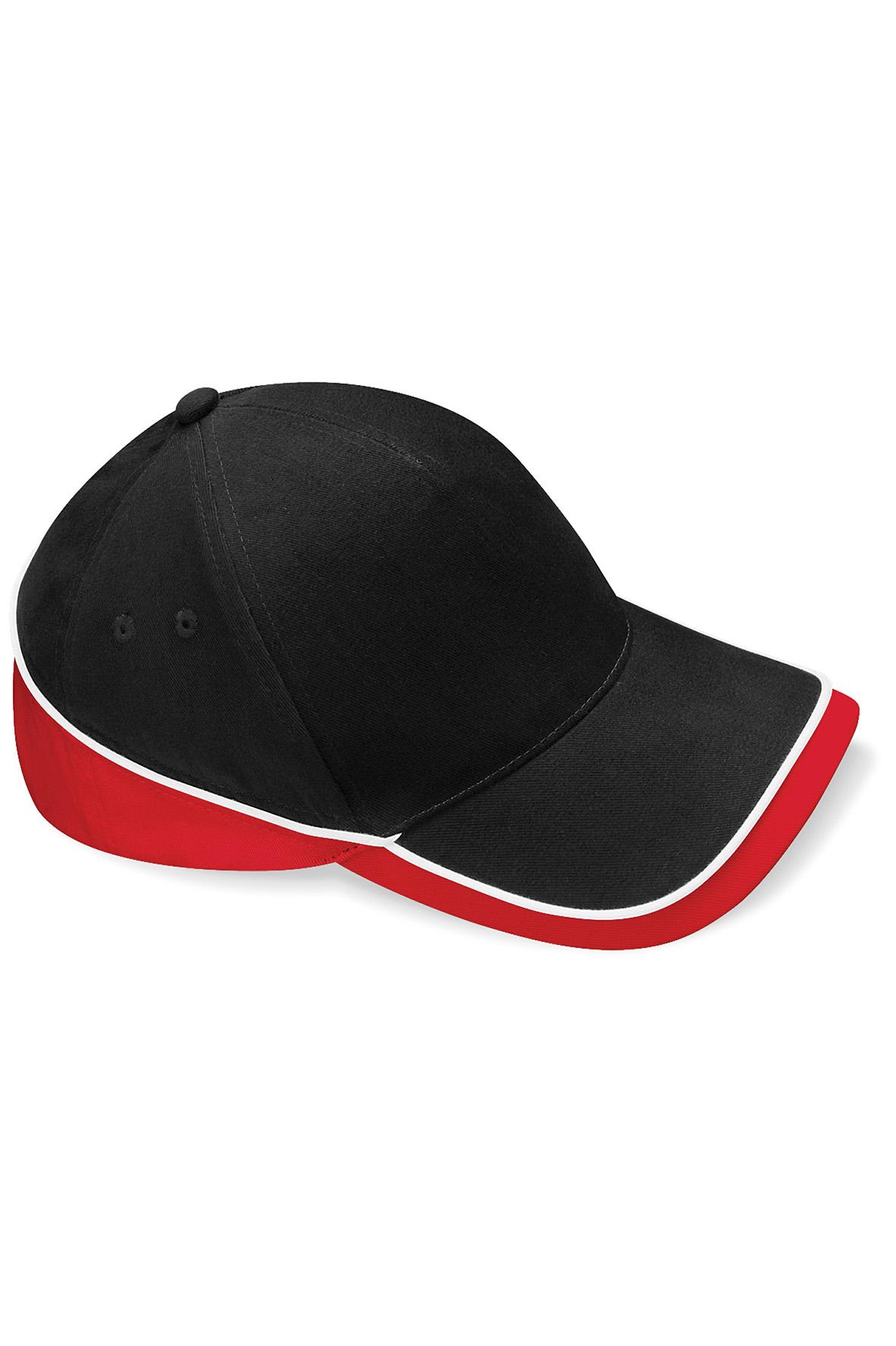 Teamwear Lippis Musta - Classic Red - Valkoinen