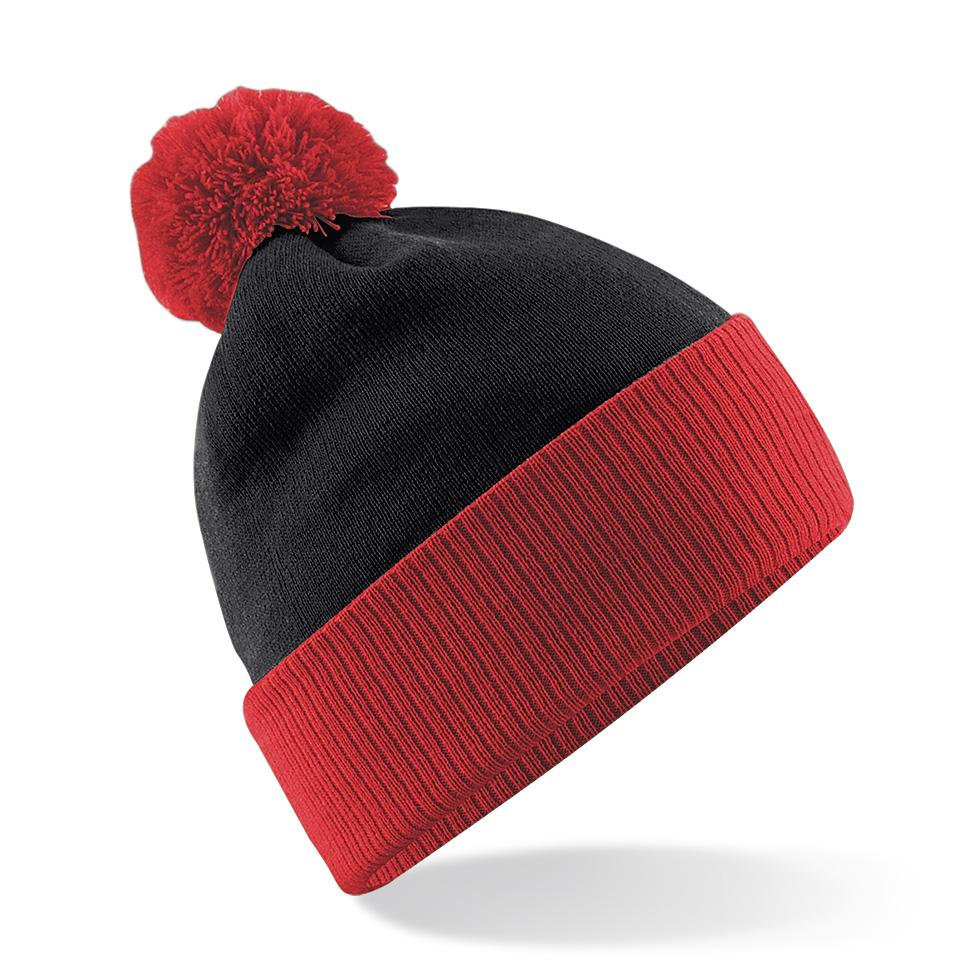 Snowstar Contrast Pipo Musta/Kirkas punainen
