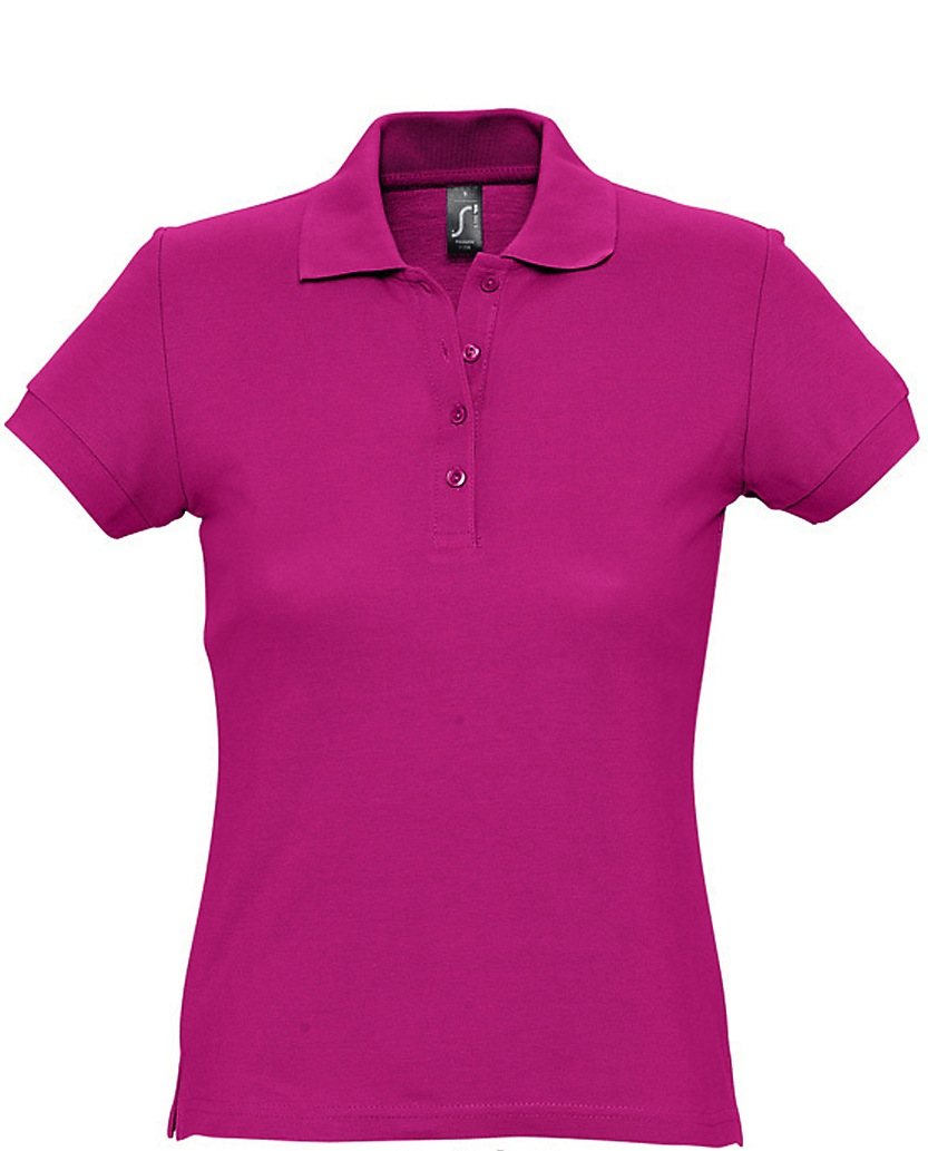 Naisten Pikeepaita Hot Pink