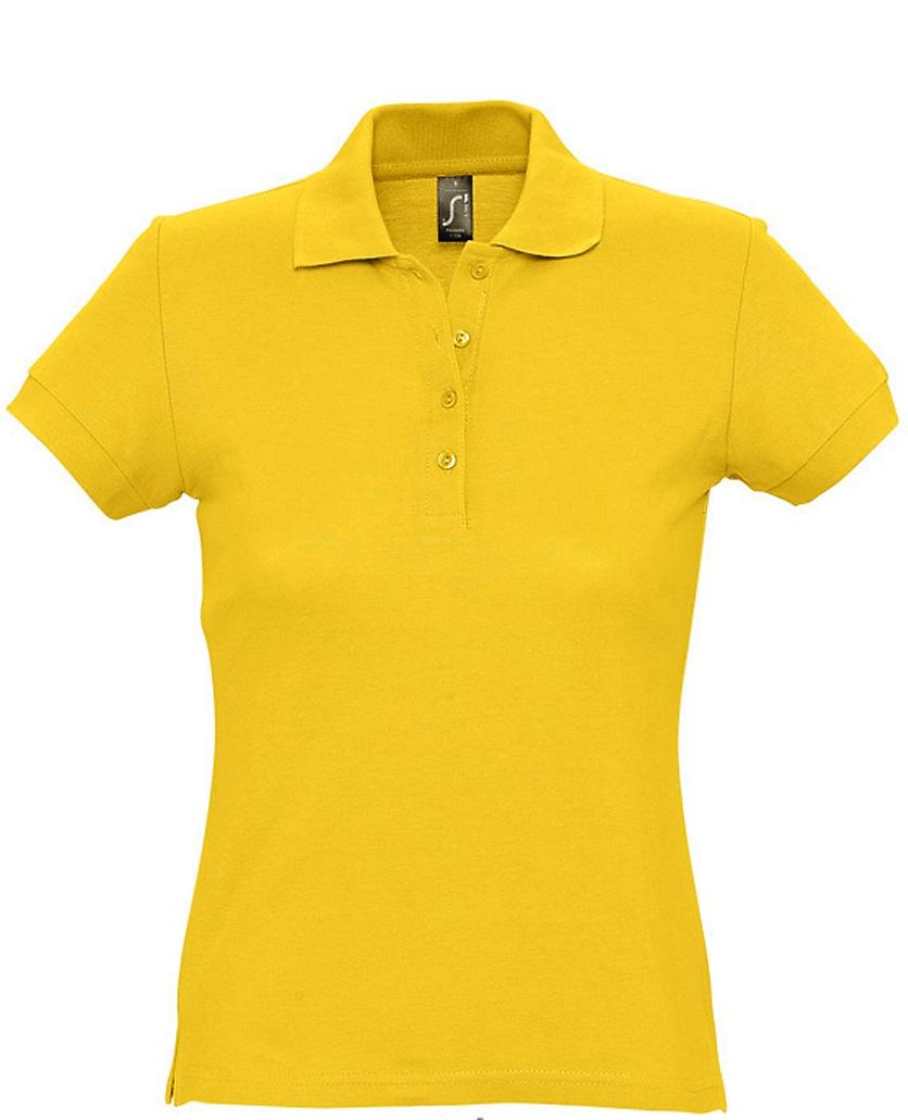 Naisten Pikeepaita Passion Yellow
