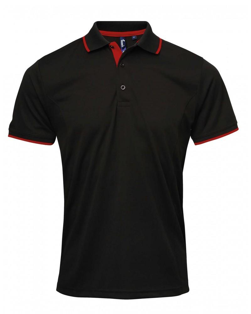 Coolchecker-pikee, musta-punainen