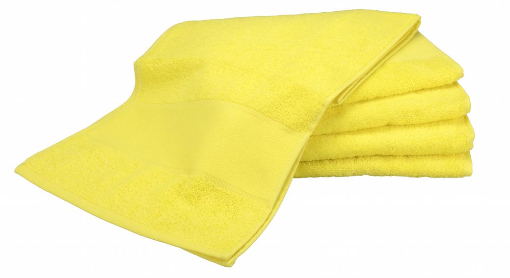 Painettava Sport-pyyhe Keltainen