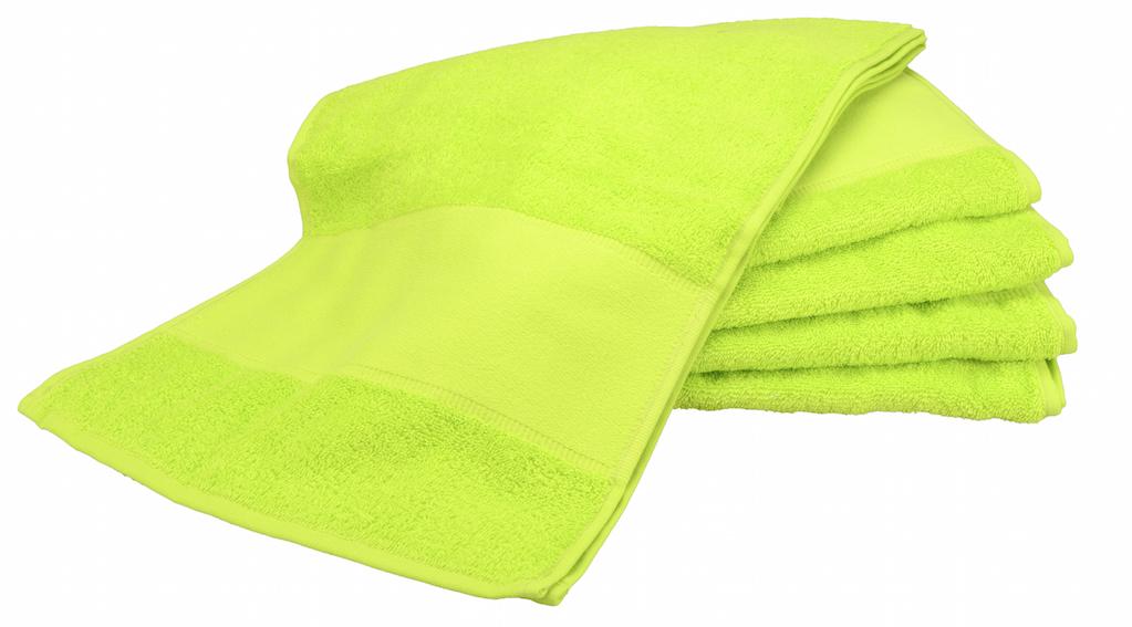 Painettava Sport-pyyhe Lime