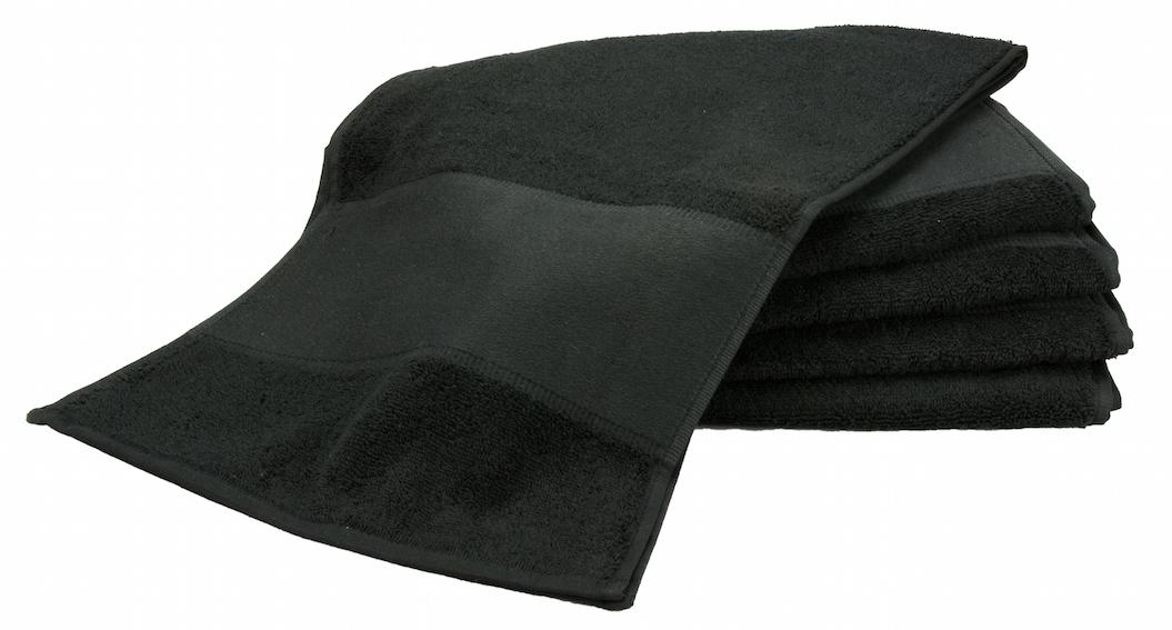 Painettava Sport-pyyhe Musta