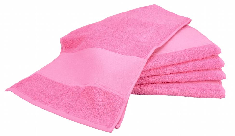Painettava Sport-pyyhe Pink