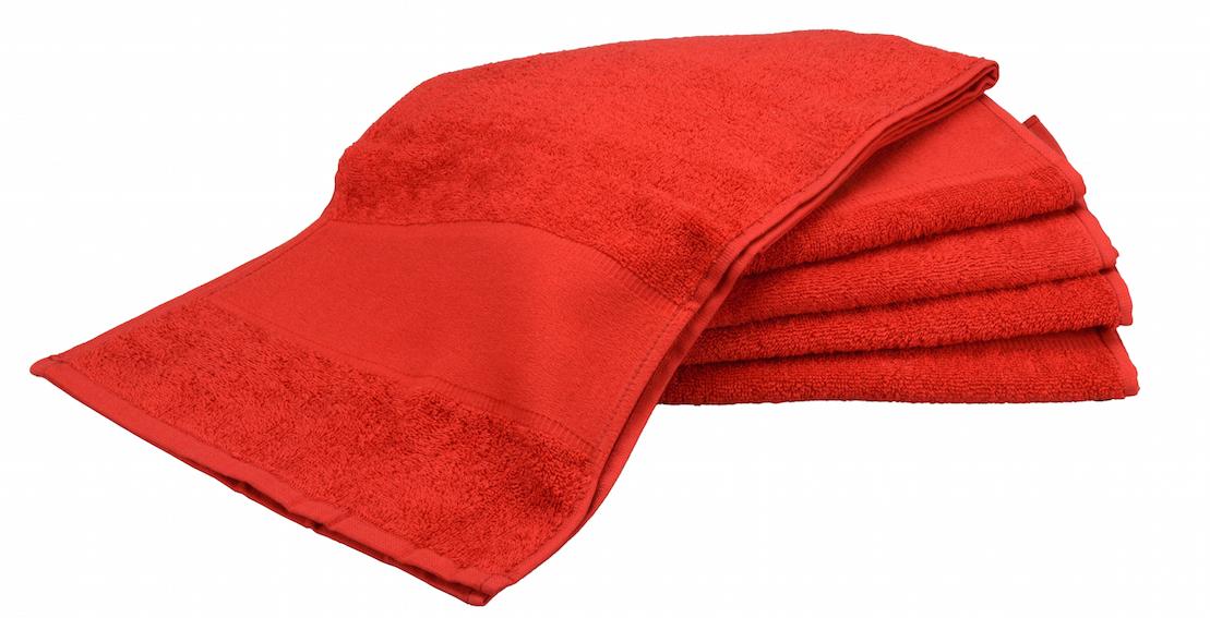 Painettava Sport-pyyhe Punainen