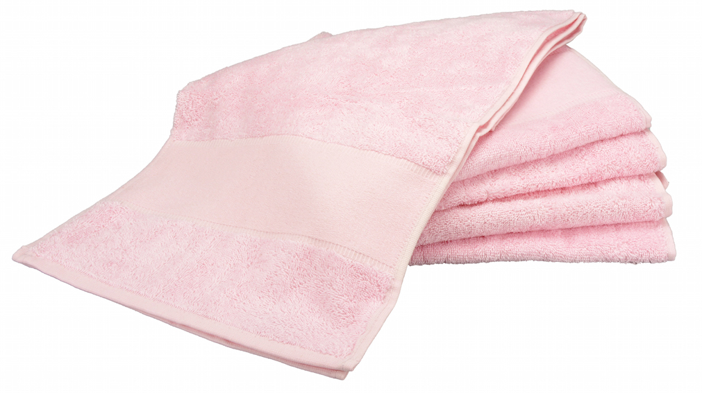 Painettava Sport-pyyhe Vaaleanpunainen