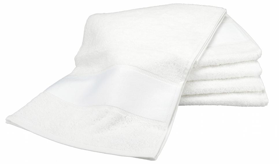 Painettava Sport-pyyhe Valkoinen